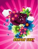 De vectorillustratie van bloemen Stock Afbeelding