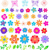 De VectorIllustratie van bloemen Royalty-vrije Stock Afbeeldingen