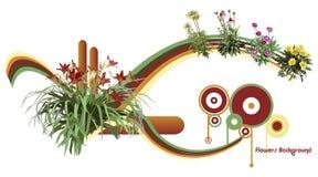 De vectorillustratie van bloemen Stock Afbeeldingen
