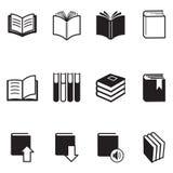 De Vectorillustratie van boekpictogrammen Stock Afbeeldingen
