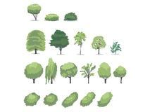De vectorillustratie van bomen Royalty-vrije Stock Afbeelding