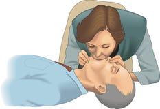 De Vectorillustratie van CPR vector illustratie