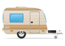 De vectorillustratie van de aanhangwagencaravan Royalty-vrije Stock Afbeelding