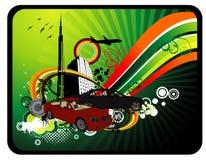 De vectorillustratie van de auto Stock Fotografie
