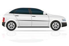 De vectorillustratie van de autovijfdeursauto Stock Foto's