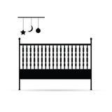 De vectorillustratie van de babyvoederbak Stock Afbeeldingen