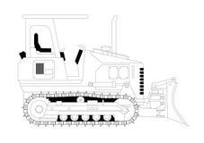 De vectorillustratie van de bulldozer Stock Afbeelding