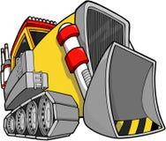 De VectorIllustratie van de bulldozer stock illustratie