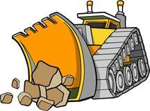 De VectorIllustratie van de bulldozer royalty-vrije illustratie