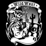 De vectorillustratie van de cowboyrevolver vector illustratie