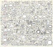De VectorIllustratie van de Elementen van het Ontwerp van de Krabbel van het notitieboekje Stock Afbeelding