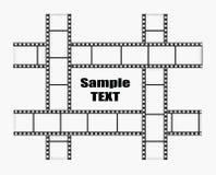 De vectorillustratie van de filmstrook Stock Foto
