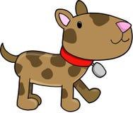 De VectorIllustratie van de hond Stock Foto