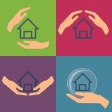 De vectorillustratie van de huisverzekering Stock Foto