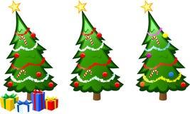 De VectorIllustratie van de kerstboom stock illustratie