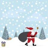 De vectorillustratie van de Kerstman Stock Afbeeldingen