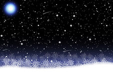 De vectorillustratie van de Kerstmissneeuwvlok Stock Fotografie