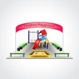 De vectorillustratie van de kinderenspeelplaats Stock Foto