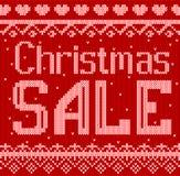 De vectorillustratie van de korting van de Kerstmisverkoop breide Stijl voor Ontwerp, Website, Achtergrond, Banner Stock Foto