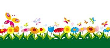 De vectorillustratie van de lente Stock Afbeeldingen