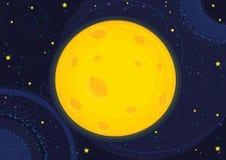 De vectorillustratie van de maan vector illustratie