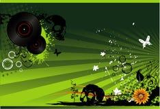 De vectorillustratie van de muziek Royalty-vrije Stock Foto