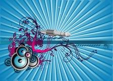 De vectorillustratie van de muziek Royalty-vrije Stock Fotografie