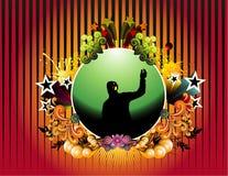 De vectorillustratie van de muziek Stock Fotografie