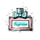 De vectorillustratie van de parfumfles Eau DE parfum Eau DE Toilette Royalty-vrije Stock Fotografie
