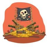 De vectorillustratie van de piraatschat Stock Foto