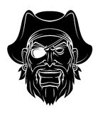 De vectorillustratie van de piraatstrijder Stock Afbeelding