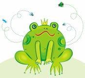 De VectorIllustratie van de Prins van de kikker stock illustratie