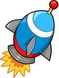 De VectorIllustratie van de raket Royalty-vrije Stock Afbeeldingen