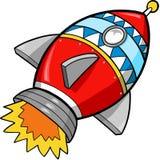 De VectorIllustratie van de raket Stock Fotografie