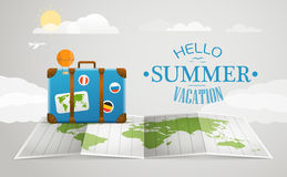 De vectorillustratie van de reiszak Het concept van de vakantie Royalty-vrije Stock Foto's