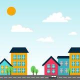 De vectorillustratie van de stad. vector illustratie