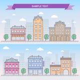 De vectorillustratie van de stad Stock Foto's