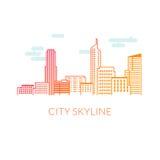 De vectorillustratie van de stadshorizon royalty-vrije stock afbeeldingen