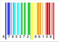 De VectorIllustratie van de Streepjescode van de regenboog Stock Foto's
