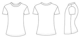 De vectorillustratie van de t-shirt Stock Afbeelding