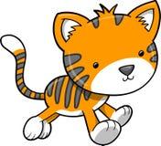 De VectorIllustratie van de tijger royalty-vrije illustratie