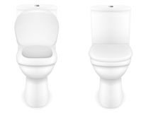 De vectorillustratie van de toiletkom Royalty-vrije Stock Foto