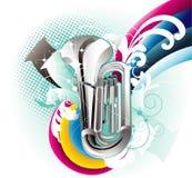 De vectorillustratie van de trompet Stock Foto's