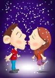 De vectorillustratie van de valentijnskaartendag Stock Foto's