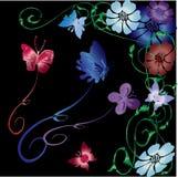 De vectorillustratie van de vlinder Stock Fotografie