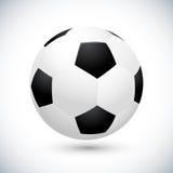 De vectorillustratie van de voetbalbal Royalty-vrije Stock Afbeeldingen