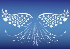 De vectorillustratie van de vogelvleugel Stock Fotografie