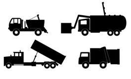 De vectorillustratie van de vuilnisauto Royalty-vrije Stock Afbeeldingen
