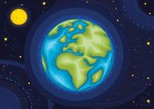 De vectorillustratie van de wereld stock illustratie
