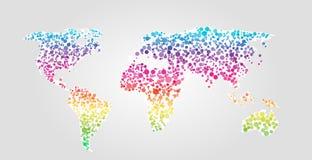 De vectorillustratie van de wereldkaart in puntenstijl Royalty-vrije Stock Foto